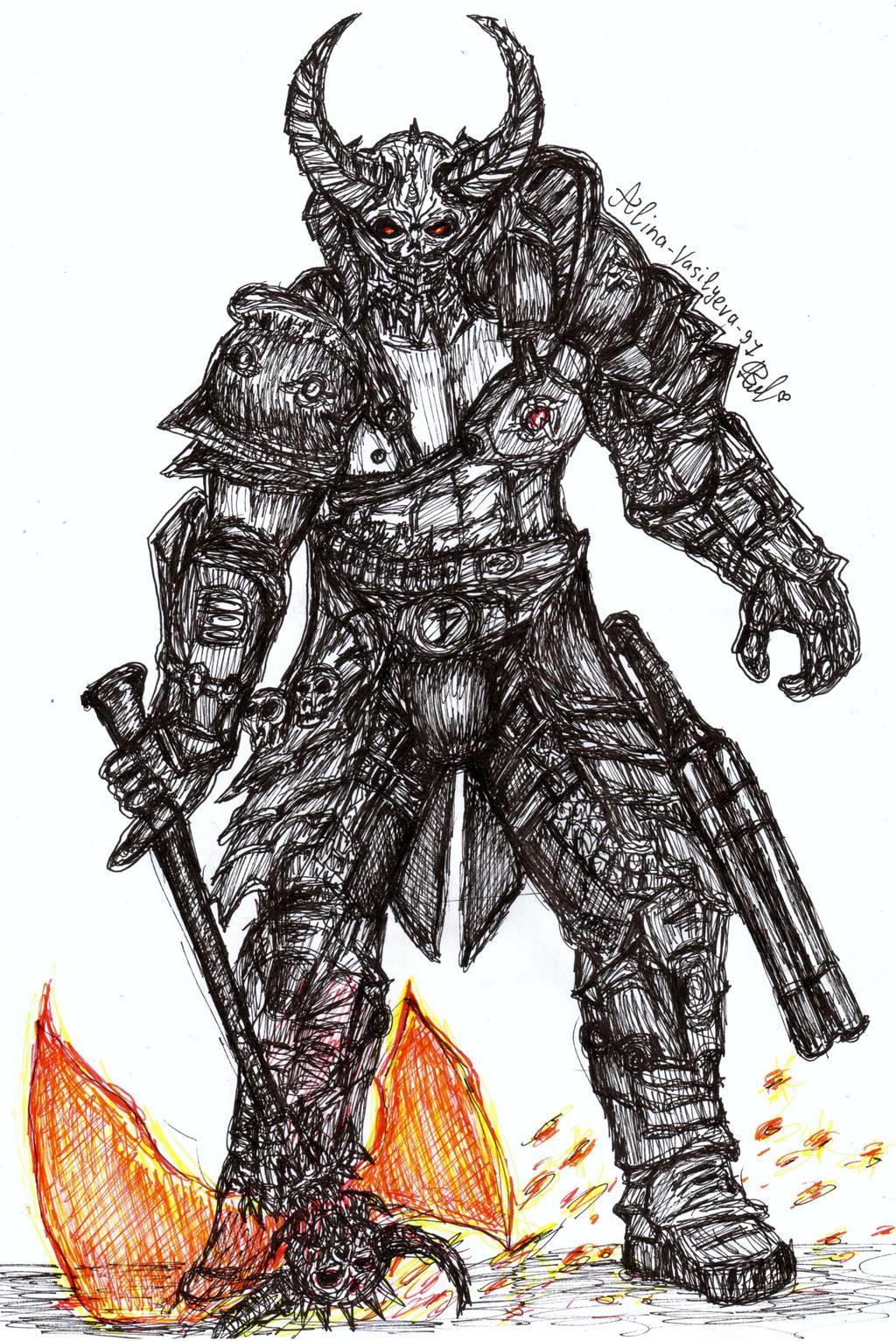 Doom Eternal Marauder By Alina Vasilyeva 97 On Deviantart