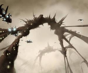 Alien city by E-sketches