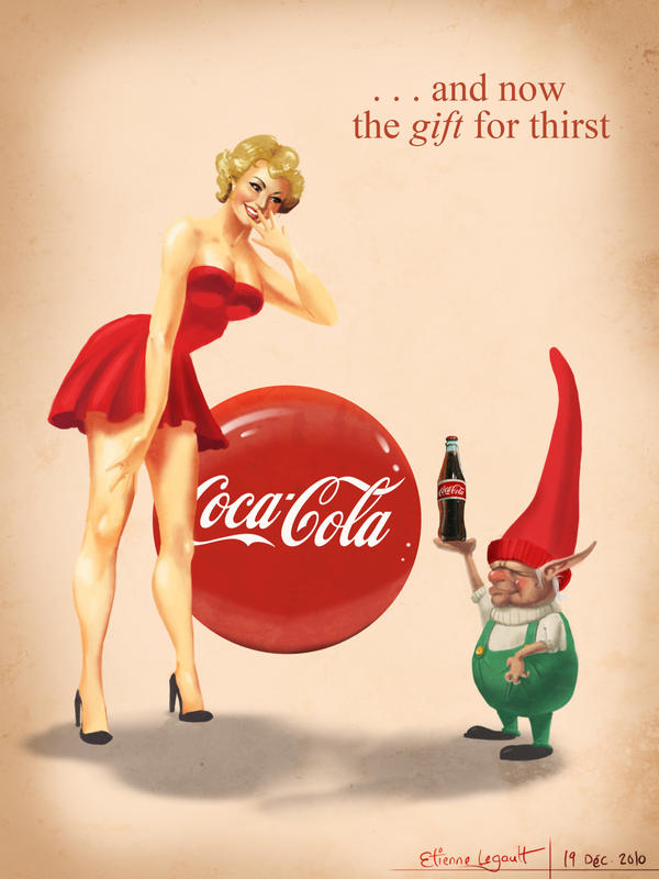 Coca-cola pin-up by E-sketches