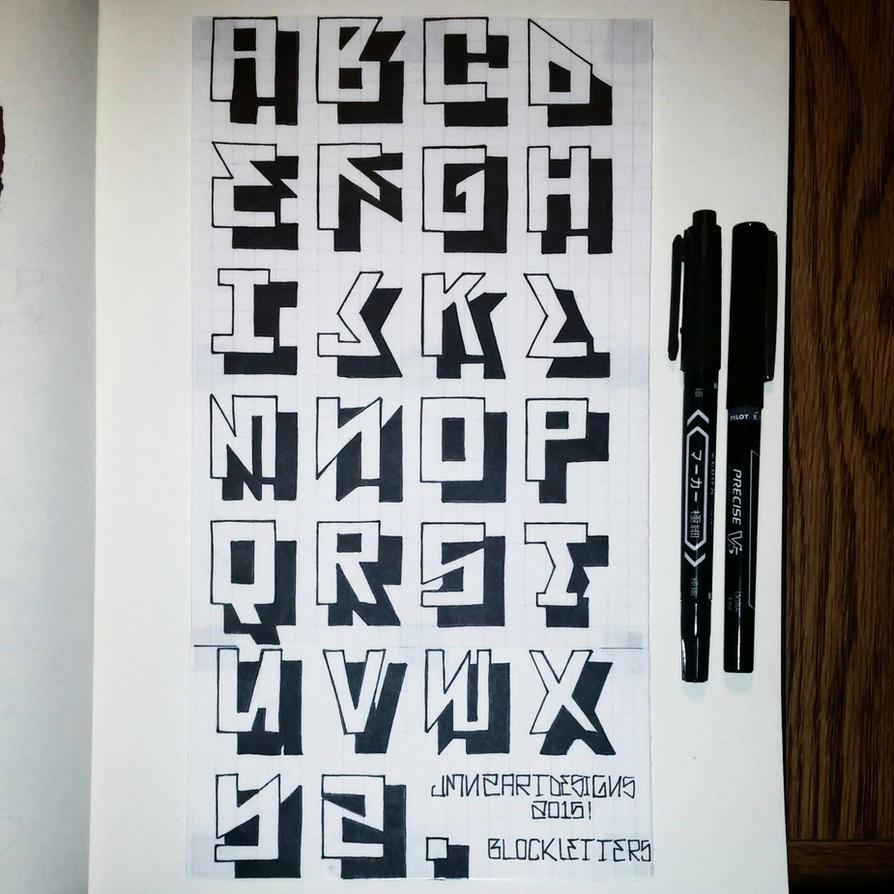 Gangster Block Letters By Elpincheraton On Deviantart