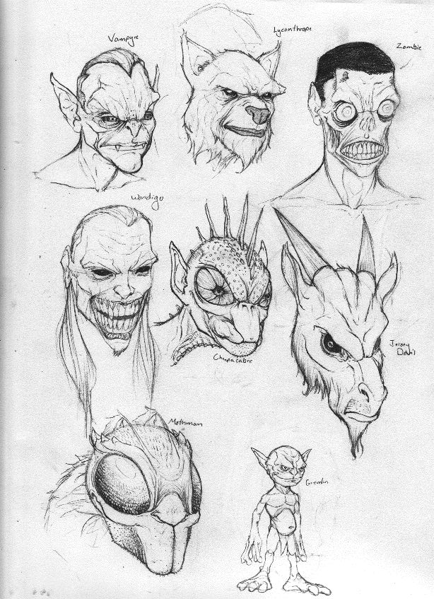 Monstrous Heads by Rogzilla