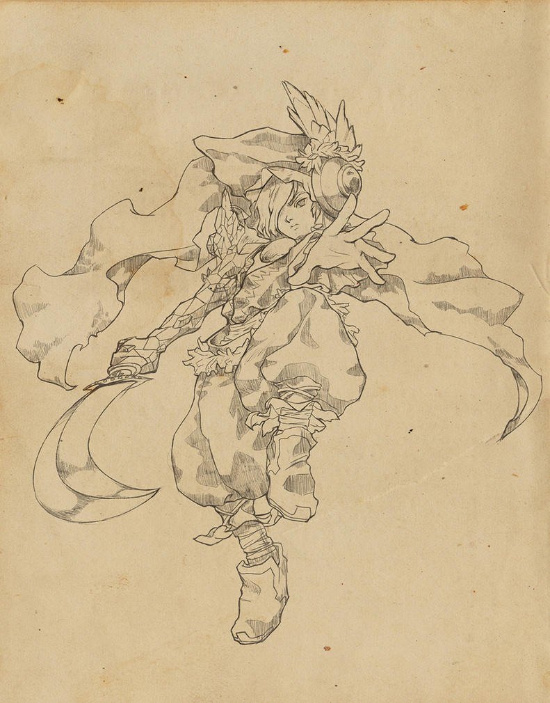 [Legend of Mana] Elazul - Lineart by PaolaTuazon