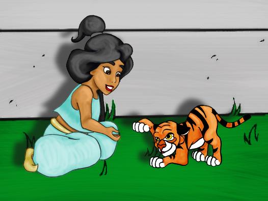 Kid Jasime and Cub Rajah by ficklegoddess