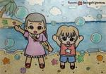 Kai and Lui drawing by dengekipororo
