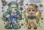 YW: Summer Nymph and Sunflower Fairy by dengekipororo