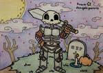ME: The Skeletal Knight by dengekipororo