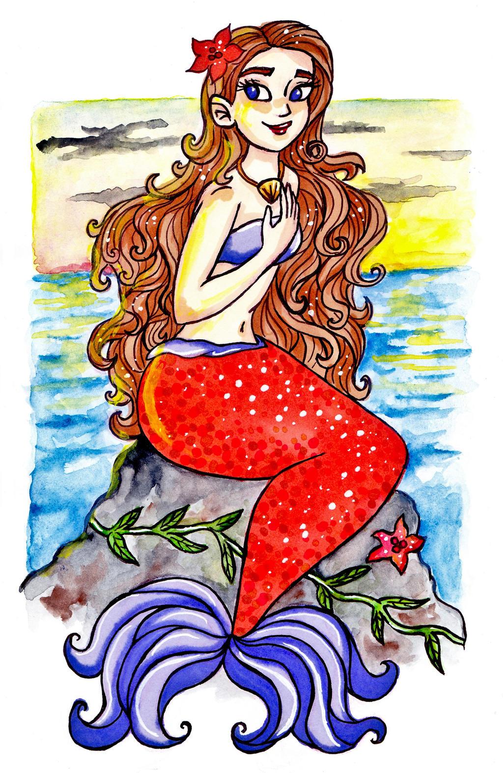 Curly Hair Mermaid