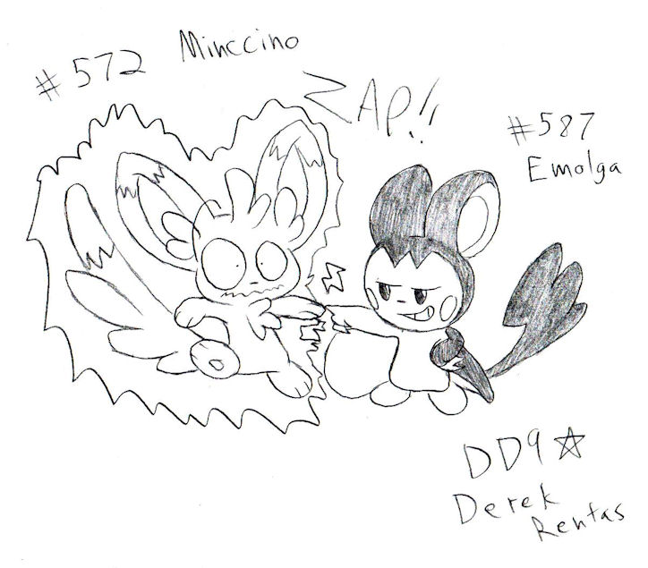 pokemon coloring pages minccino - photo#31