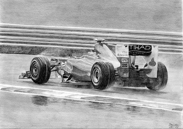 Fernando Alonso in the Rain by SpecialNightStar