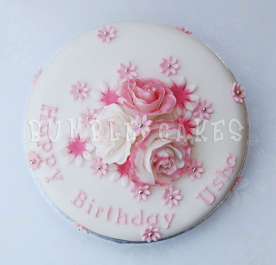 Pink Rose Birthday Cake 1 By Mrsbumble On Deviantart