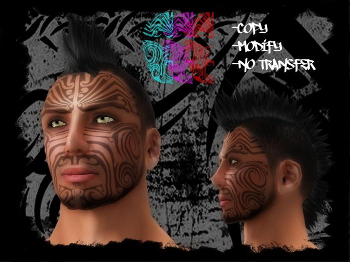 Maori Face Tattoo V1 by ~mcsdr-salem on deviantART