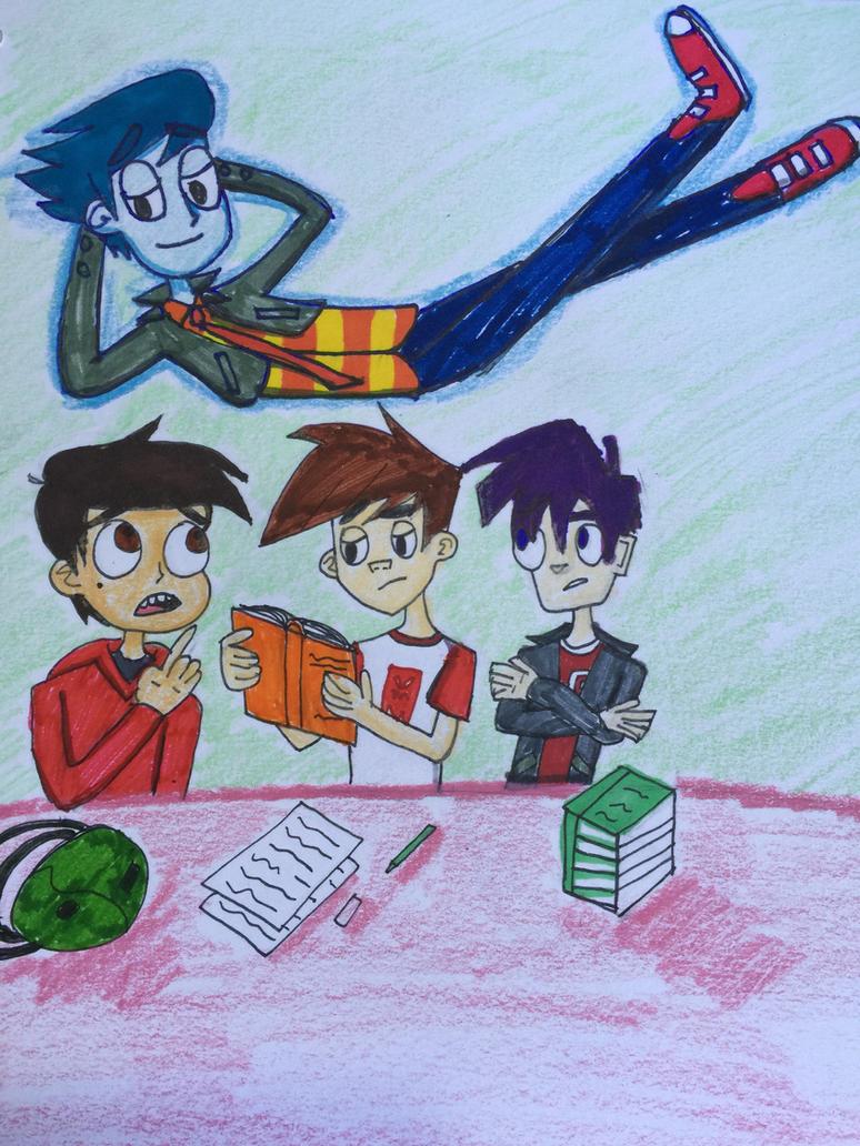 New Gen Disney Boys: Dude! A Ghost! by BabyAlviGX