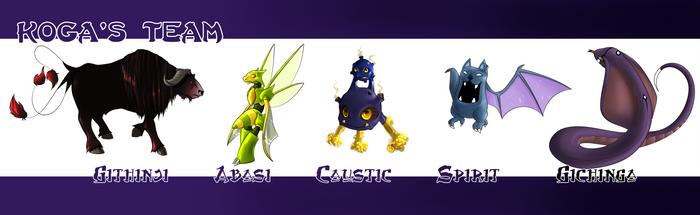 Koga's Team by Katie-Yoshi