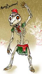 Skeletal Christmas by Katie-Yoshi