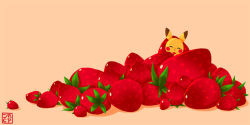 Pikachu and Strawberries