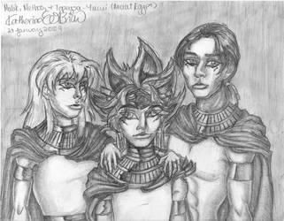 Yami,Bakura,MethosEgypt Pencil by DarkJediPrincess