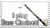 STAMP: Bass Clarinetist 02 by DarkJediPrincess