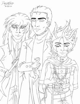 DBFS: Together Again Lineart