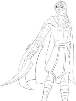 Guardsman Methos - Lineart