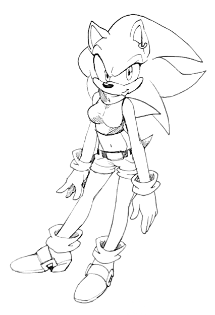 Female Sonic by Zenox-furry-man