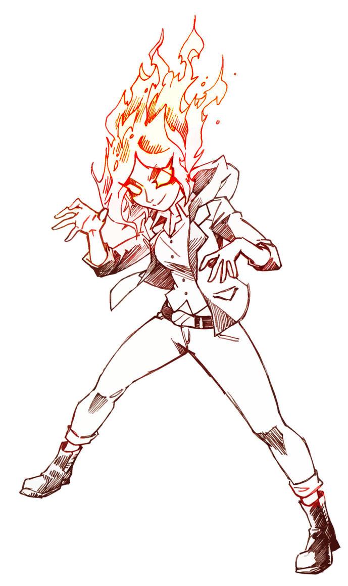 Clara with genie power by Zenox-furry-man