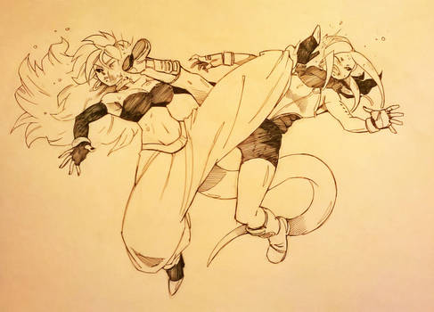Majin Zam vs Android 21