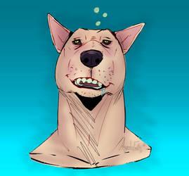 A drunk demon dog named Joey