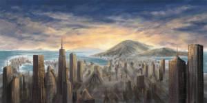 WIP Sundown City 01 by theuni