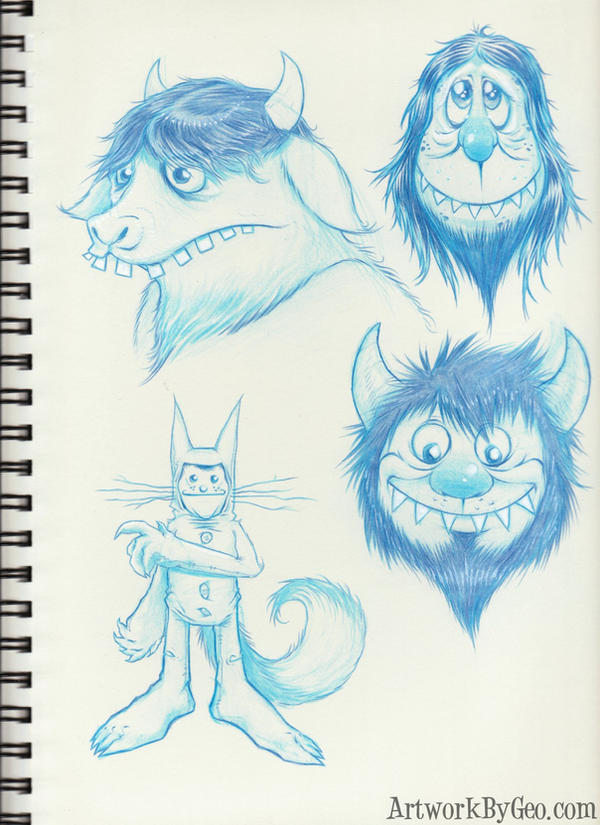 WHERE THE WILD THINGS ARE by ArtworkByGeo