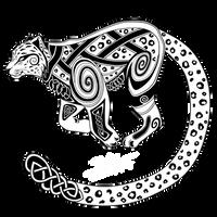 Snow Leopard Celtic Design