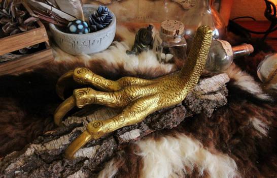 Skyrim - Golden Dragon Claw (clay sculpture)