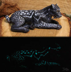 Skyrim - Glowing Vale Sabertooth Cat Sculpture