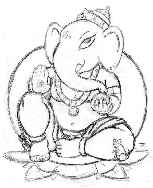Line Art Ganesh Images : Ganpati line art imgkid the image kid has it