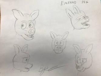 Emerald pig designs by Bronson365