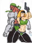 Mortal Kombat: Special Forces - Jax and Sonya Blad by VannJarmonColorist
