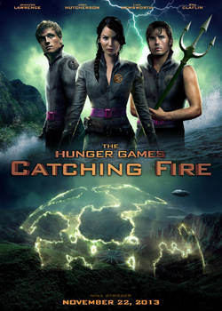 CATCHING FIRE self-made movie poster