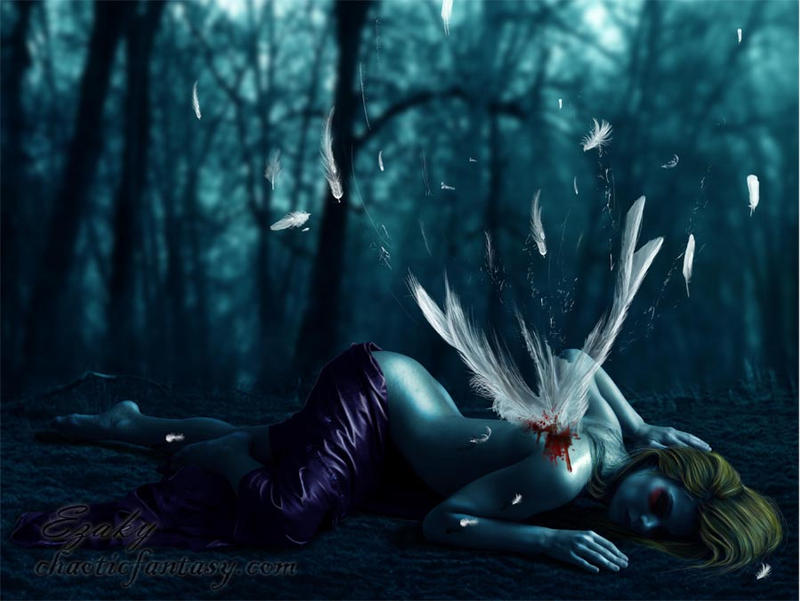 Fallen Angel by ezakytheartist