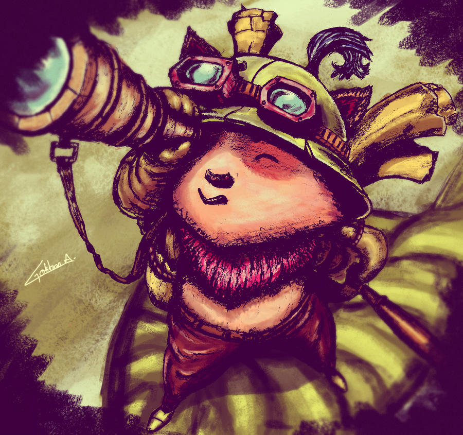 Lol - Teemo (Painting) by gokhanaltay