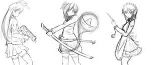 Touhou servants sketch