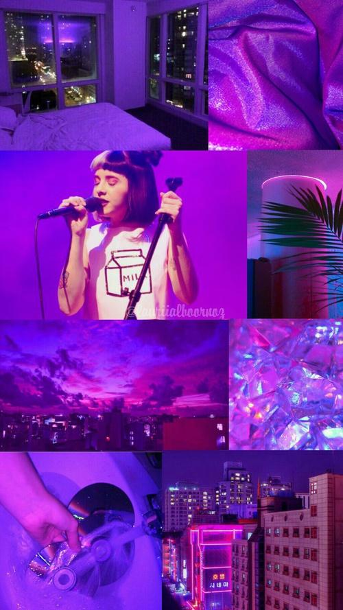 Melanie martinez purple neon aesthetic lockscreen by ...