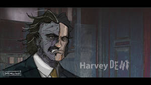 Harvey Dent by CartoonCaveman