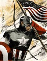 Captain America Color by CartoonCaveman