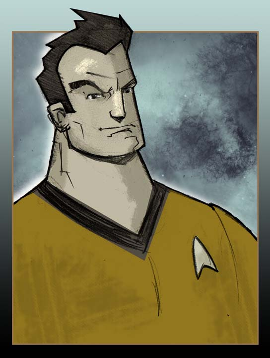 Captain Kirk by CartoonCaveman
