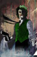 Joker Sketch by CartoonCaveman
