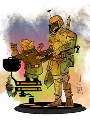 Ugnaught and Fett by CartoonCaveman