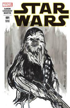 Star Wars sketch cover Chewbacca
