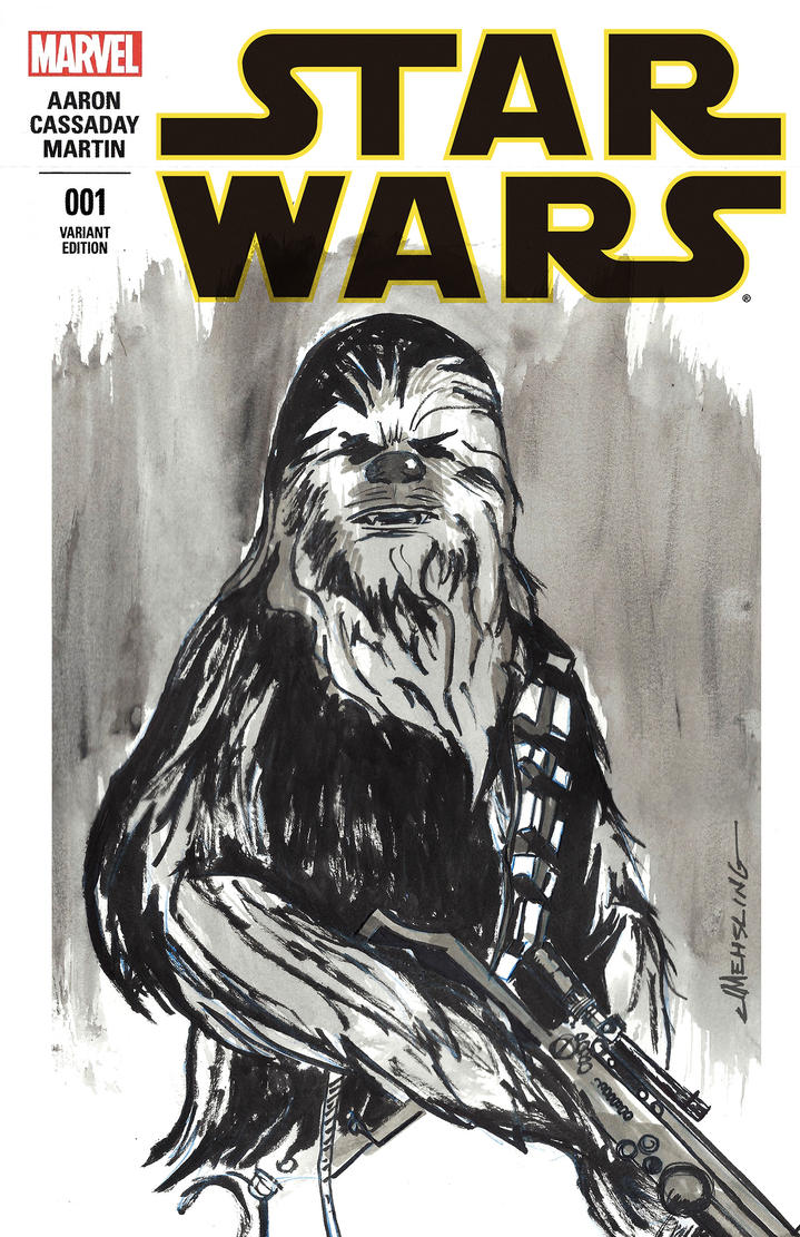 Star Wars sketch cover Chewbacca by CartoonCaveman