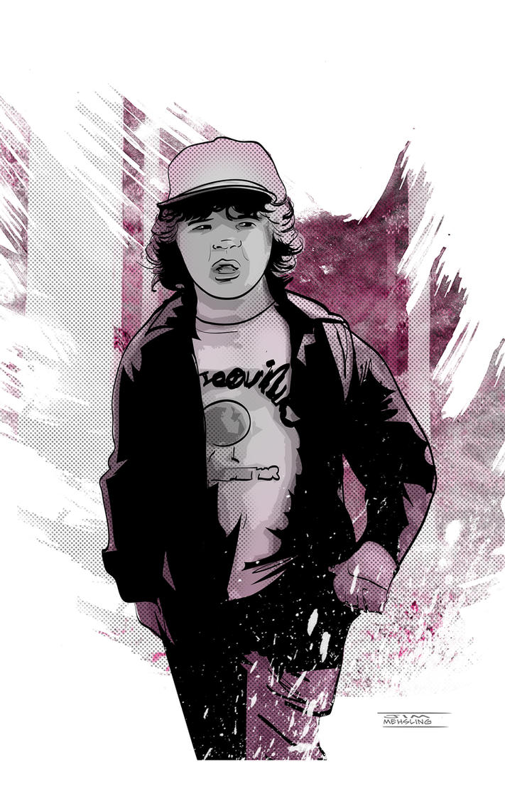 Dustin from Stranger Things by CartoonCaveman
