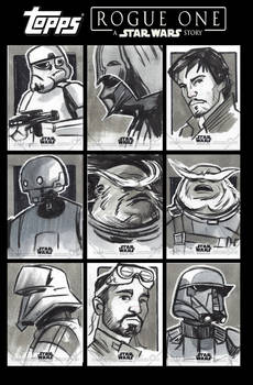 Star Wars Rogue One Sketchcards