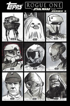 Star Wars Rogue One Series 2 Sketch Cards